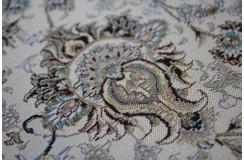 Piękny misternie tkany lśniący perski dywan Ghom 160x230cm 100% poliester