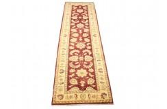 Bordowo-złoty tradycyjny ręcznie tkany dywan Ziegler Farahan z Pakistanu 100% wełna 80x300cm chodnik