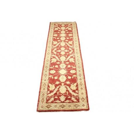 Bordowo-złoty tradycyjny ręcznie tkany dywan Ziegler Farahan z Pakistanu 100% wełna 70x250cm chodnik