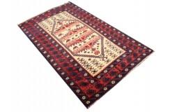 Dywan rękodzieło Beludżów 100% wełna ok 120x180cm oryginalny z Iranu tradycyjny perskie motywy