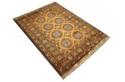 Oryginalny 100% wełniany dywan Afgan Kargahi Buchara 107x147cm ręcznie gęsto tkany