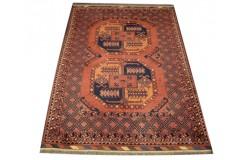 Oryginalny 100% wełniany dywan Afgan Kargahi Buchara 104x142cm ręcznie gęsto tkany