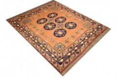 Oryginalny 100% wełniany dywan Afgan Kargahi Modern 146x162cm ręcznie gęsto tkany