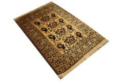 Oryginalny 100% wełniany dywan Afgan Kargahi Buchara 100x141cm ręcznie gęsto tkany