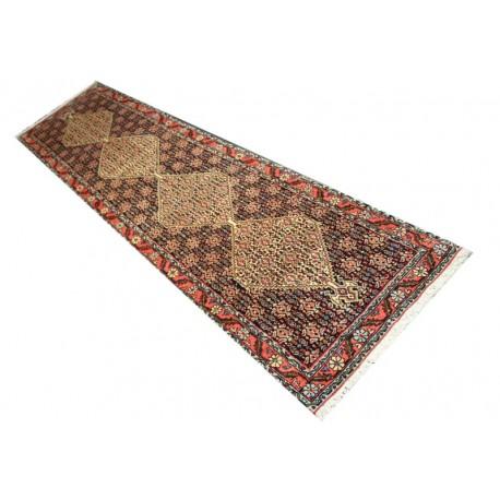 Gęsto tkany kwiatowy piękny dywan Senneh z Iranu 70x300cm 100% wełna oryginalny perski chodnik
