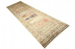 Tradycyjny antyczny dywan ręcznie tkany z Turcji 100% jedwab chodnik ok 100x350cm turecki Gordes/Bergama/Kayseri