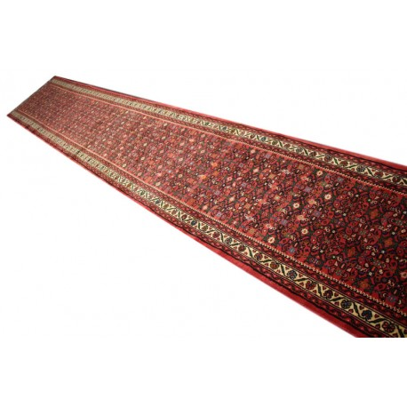 Chodnik 85x700cm niezwykły przepiękny dywan Hosseinabad z Iranu 100% wełna