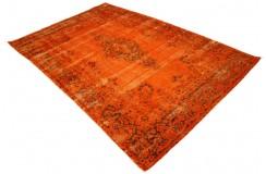 Dywan ręczne tkany perski Tabriz Colored Vintage pomarańczowy ok 200x300cm RELOADED Retro