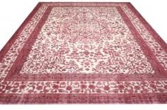 Dywan ręczne tkany perski Tabriz Colored Vintageczerwony ecru ok 300x400cm RELOADED Retro