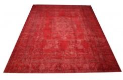 Dywan ręczne tkany perski Tabriz Colored Vintage czerwonyok 250x350cm RELOADED Retro