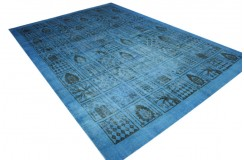 Dywan ręczne tkany perski Tabriz Colored Vintage niebieski ok 230x320cm RELOADED Retro