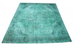 Dywan ręczne tkany perski Tabriz Colored Vintage turkusowy ok 250x335cm RELOADED Retro