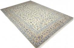 Beżowy oryginalny dywan Kashan (Keszan) z Iranu wełna 226x311cm perski