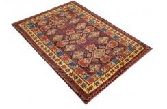 Oryginalny 100% wełniany dywan Afgan Kargahi Modern 110x160cm ręcznie gęsto tkany