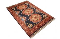 Oryginalny 100% wełniany dywan Afgan Kargahi Modern 130x180cm ręcznie gęsto tkany