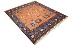Oryginalny 100% wełniany dywan Afgan Kargahi Modern kwadratowy ręcznie gęsto tkany