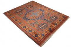 Oryginalny 100% wełniany dywan Afgan Kargahi Modern 160x210cm ręcznie gęsto tkany