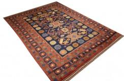 Oryginalny 100% wełniany dywan Afgan Kargahi Modern 180x240cm ręcznie gęsto tkany