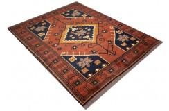 Oryginalny 100% wełniany dywan Afgan Kargahi Modern 170x200cm ręcznie gęsto tkany
