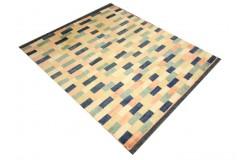 Ręczny tkany dywan Ziegler Gabbeh Pakistan 140x160 cm nowoczesny piękne kolory 99x143cm