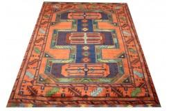 Oryginalny 100% wełniany dywan Afgan Kargahi Modern 200x250cm ręcznie gęsto tkany