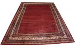 Czerwony oryginalny dywan Kashan (Keszan) z Iranu wełna 250x350cm perski wzór pawie oczka