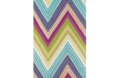 Kolorowy nowoczesny dywan SCION GROOVE 25705 140x200cm 100% wełniany gruby fuksja, niebieski wart 2100zł