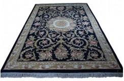 Piękny dywan Aubusson Habei ręcznie tkany z Chin 200x300cm 100% wełna przycinany rzeźbione kwiaty grantowy