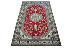 Nain gęsto ręcznie tkany dywan z Iranu wełna 160x260cm czerwony majestatyczny