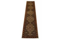Gęsto tkany kwiatowy piękny dywan Senneh z Iranu 60x260cm 100% wełna oryginalny perski tradycyjny chodnik