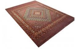 Ręcznie tkany antyczny dywan afgański ekskluzywny gęsto tkany 195x281cm wełna i jedwab antyk