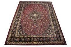 Piękny oryginalny dywan Kashan (Keszan) z Iranu z medalionem wełna 250x350cm perski klasyk sygnowany