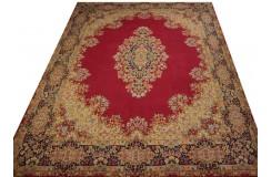 Bogaty klasyczny bordowy perski dywan Kerman (Kirman) ok 300x425cm 100% wełna