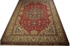Dywan perski Tabriz 300x400cm 100% wełna z Iranu czerwony klasyczny kwiatowy wzór kwiatowy