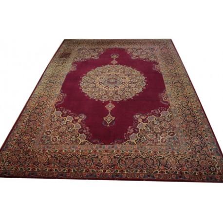 Bogaty klasyczny bordowy perski dywan Kerman (Kirman) ok 300x400cm 100% wełna