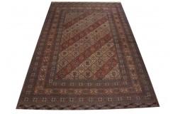 Ręcznie tkany antyczny dywan afgański ekskluzywny gęsto tkany 240x375cm antyk 100% wełna