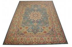 Bogaty klasyczny niebieski perski dywan Kerman (Kirman) ok 265x360cm 100% wełna