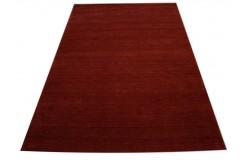 Gładki 100% wełniany dywan Gabbeh Handloom nasycony ceglasty 200x300cm bez wzorów