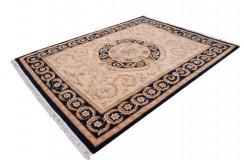 Piękny dywan Aubusson Habei ręcznie tkany z Chin 300x400cm 100% wełna przycinany rzeźbione kwiaty beżowy grantowy