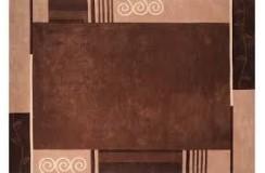 Nowoczesny zielony dywan Luxor Living Palma 140x200cm poliester i akryl brązowy
