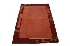 Nowoczesny zielony dywan Luxor Living Palma 140x200cm poliester i akryl czerwony