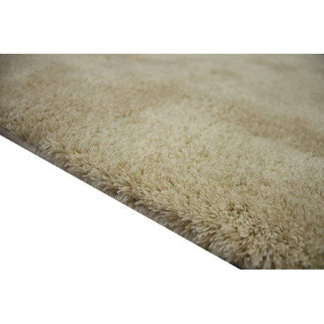 Gładki kremowy dywan Luxor Living Monza kremowy 140x200cm 100% akryl