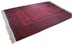 Afgan Buchara oryginalny 100% wełniany dywan z Afganistanu 200x300cm ręcznie gęsto tkany Kabul