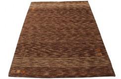 Brązowy dywan Gabbeh Sao Paulo Luxor Living nowoczesny wełna argentyńska 170x240cm