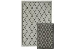 Dwustronny płasko tkany dywan Obsession Tarunis 80x120cm kilim polipropylen bawełna niebieski beżowy