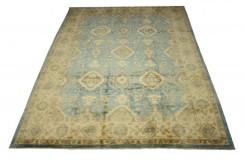 Ogromny wzorzysty dywan Ziegler 100% wełna kamienowana ręcznie tkany 269x357cm