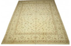 Wzorzysty dywan Ziegler beżowy 100% wełna kamienowana ręcznie tkany 250x300cm