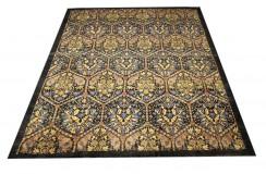 Czarny dywan Ziegler 100% wełna kamienowana ręcznie tkany 250x300cm