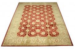 Palmety dywan Ziegler czerwony 100% wełna kamienowana ręcznie tkany 250x300cm