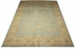 Palmety dywan Ziegler niebieski 100% wełna kamienowana ręcznie tkany 250x350cm